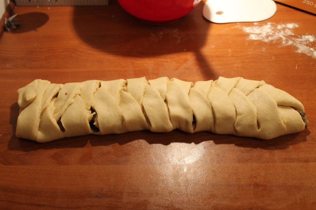 Kringle med æbler.
