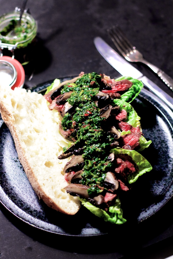 Chimichurri Steak Sandwich - god til tømmermænd